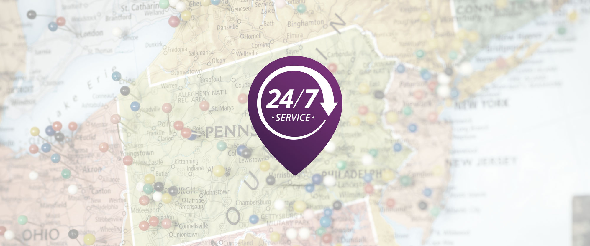 24/7 Service Map